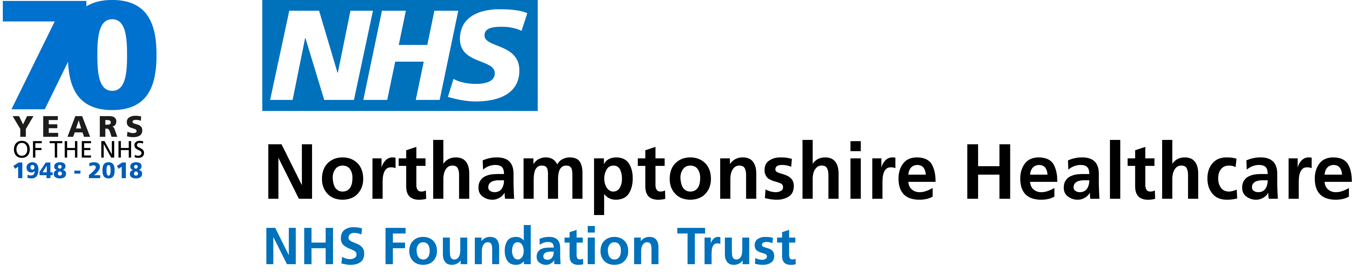 Official logo for website and intranet (with NHS 70)