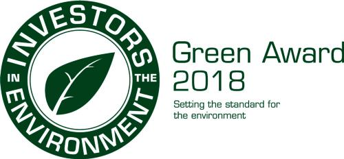 Accreditation logo for the green award
