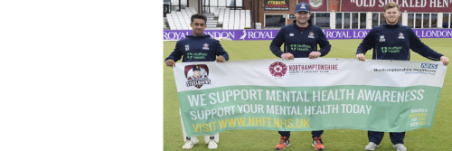 Northants County Cricket Club support mental health awareness week.
