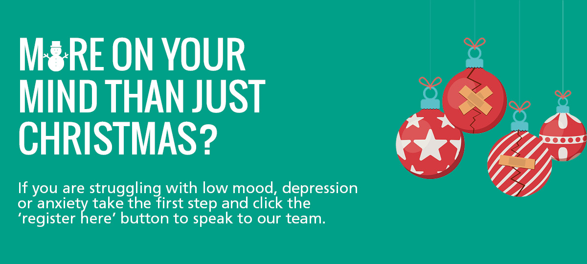 IAPT Christmas campaign banner.