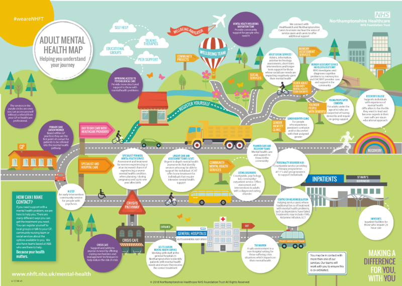 A road map through our adult mental health services