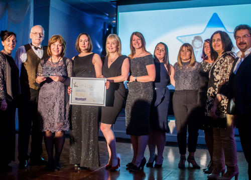 Image of PCART North - allotment project winning Anne McWatt award for innovation in involvement 2018 quality awards