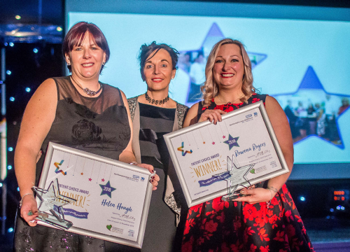 Image of Rowena Rogers and Helen Hough our patient choice winners 2018 quality awards