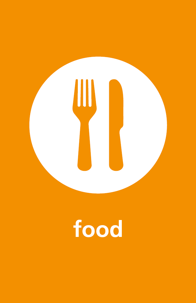 Image of food icon for sustainability work across NHFT