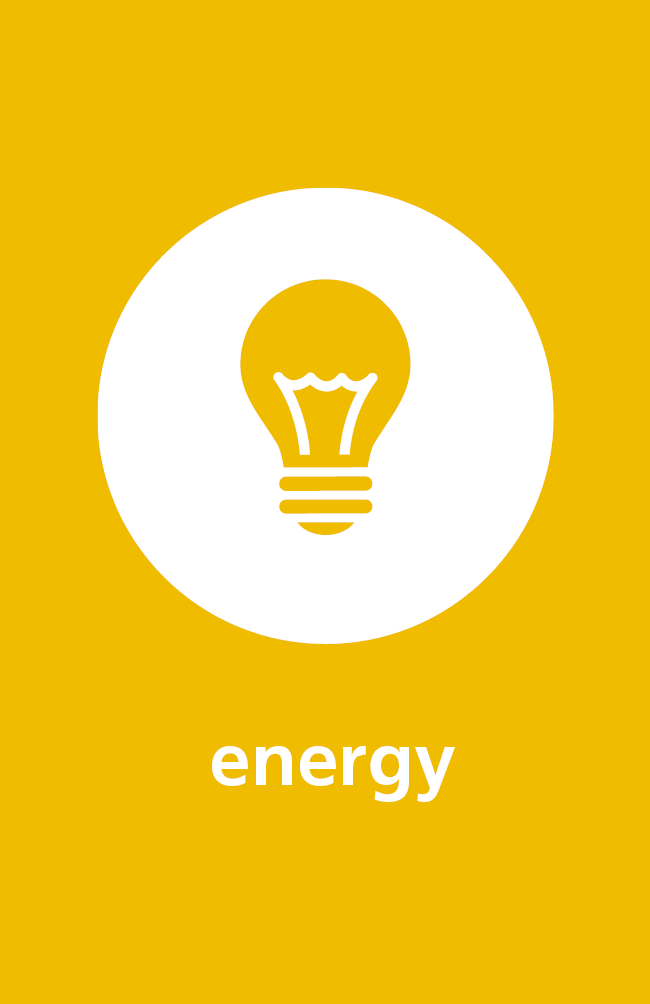 Image of energy icon for sustainability work across NHFT