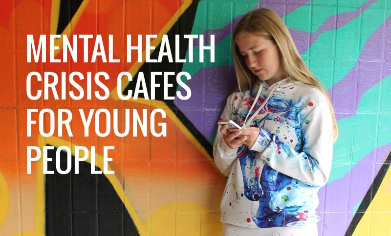 Image of a teenage girl for the crisis cafes for young people
