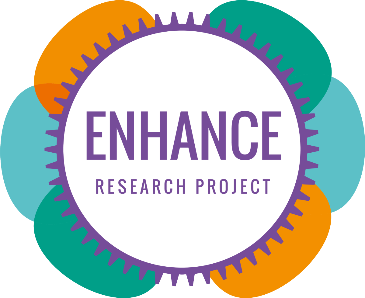 A graphic produced for the ENHANCE project run with Dr Kate Walker and Dr Chris Griffiths as well as University of Nottingham and NIHS