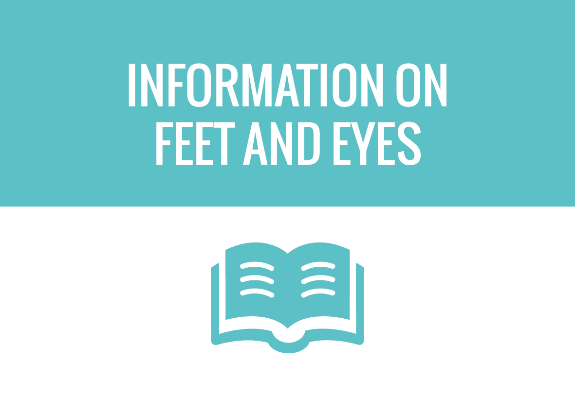 Buttons - Information on feet and eyes - website