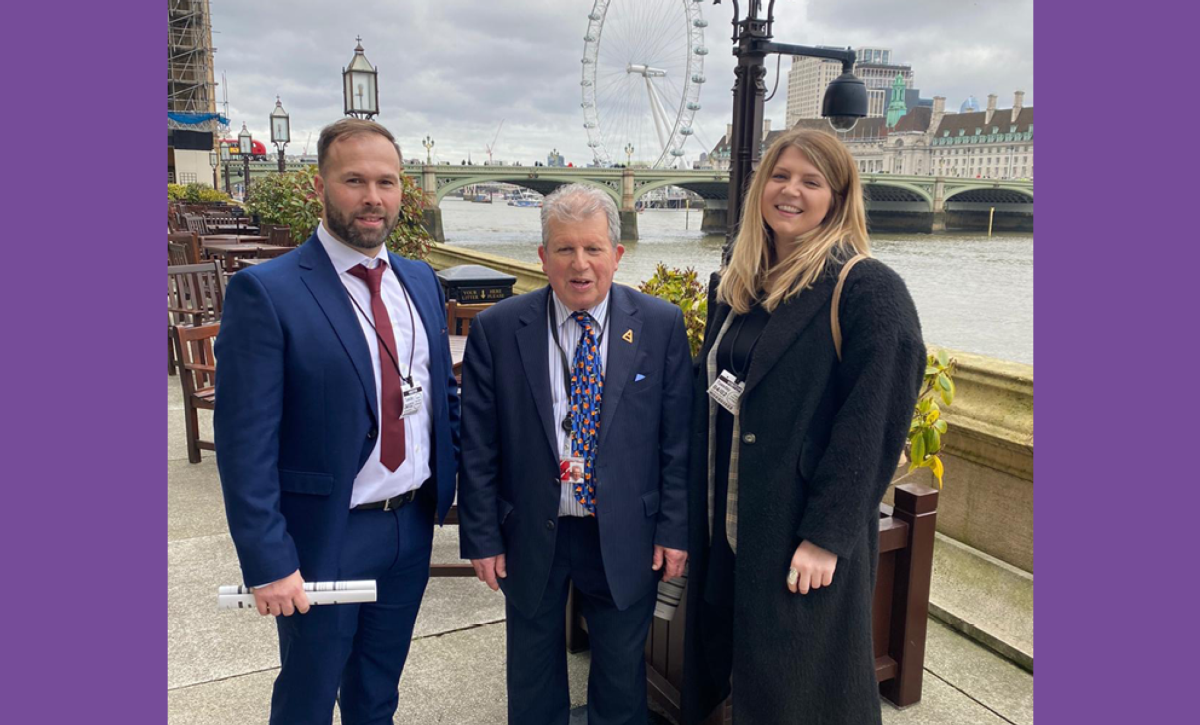 Anthony Hammond with peers standing outside of Westminster