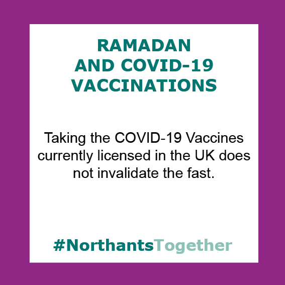 Taking the covid-19 vaccine during Ramadan does not invalidate the fast
