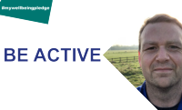 Image to accompany the 'be active' element of the 5 ways campaign