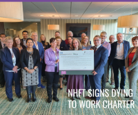 Image to support the blog article on NHFT signing up to the TUC Dying to work charter