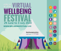 Spotlight blog image to accompany articles on Virtual Wellbeing Festival 2020