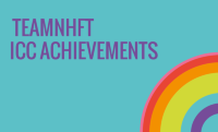 TEAMNhft ICC achievements and rainbow cartoon