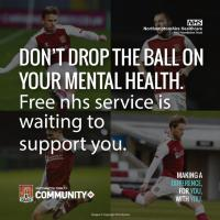Don't drop the ball on your mental health. Free nhs service is waiting to support you